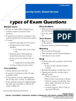 Types of Exam Questions