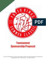 3 on 3 Basketball Tournament Sponsor Proposal