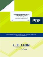Propuesta Metodologica Pata La Evaluacion de La Calidad Docente e Investigadora