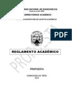 Reglamento Academico UNH  2013
