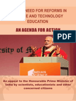 Urgent need for reforms in Science and Technology Education - An Agenda for Action