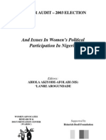 Gender Audit 2003 Elections
