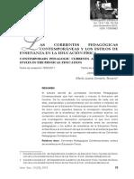 corrientes Pedagogicas y Los Estilos de La Enseñanza Ed. Fisica