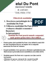 Modelul Du Pon Tcu Prognozare