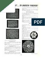 Irish Crochet Rose Motif Backgrounds Pattern