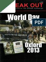 SPEAK OUT Issue 15 Summer 2013