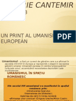 Proiect La Limba Romana - Dimitrie Cantemir