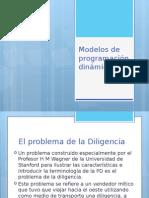 1.2 Modelos de Programación Dinámica (Método de La Diligencía)