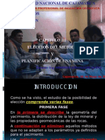CAP. 03.- ELECCION DEL METODO Y PLANIFICACION DE UNA MINA.pptx