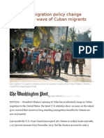 Fears of Immigration Policy Change Triggers New Wave of Cuban Migrants