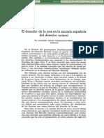 El Derecho de la Paz en la Escuela Española