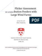 Voltage Flicker Assessment in Distribution Feeders With Large Wind Farms