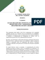 Ley de Creación del Instituto Autonomo de Proteccion Civil y Administracion de Desastres del Estado Carabobo