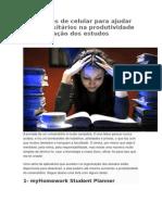 Aplicativos de Celular Para Ajudar Os Universitários Na Produtividade e Organização Dos Estudos