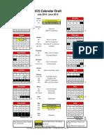 Goshen Community Schools 2015-16 calendar