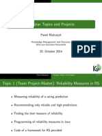 Topics Projects Seminars PM