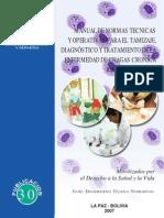 Manual de Normas Tecnicas y Operativas para el tamizaje diagnóstico y tratamiento de la enfermedad de Chagas Crónica Reciente Infantil
