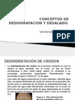 Conceptos de Deshidratacion y Desalado