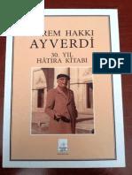 Ekrem Hakki Ayverdi 30 Yil Hatira Kitabi-libre