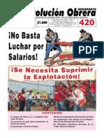 Semanario Revolución Obrera Ed. 420