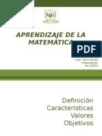 Aprendizaje de La Matemática Presentación 1