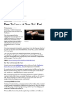 How to Learn a New Skill Fast - Forbes