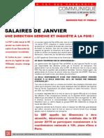 Agences Paie Salaires Janvier