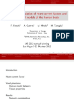 Numerical simulation of heart-current factors and electrical models of the human body