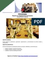 Programa Experto en Organizacion de Eventos