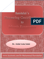 Dr Hamidulla's Contribution to Islamic Economics