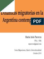 Pacecca - Migraciones Contemporaneas - Pasteur Octubre 2014