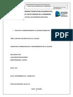 Proyecto de Segundo Bimestre Control Estadístico de La Calidad Empresa Suárez Distribuciones