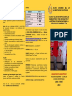 Triptico i Curso Taller de Inspección, Plan de Muestreo, Toma de Muestra y Auditoria de Calidad en Servicios d