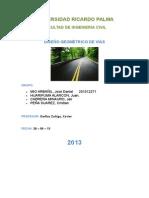 1ra Informe de Diseño de Vias (Total)