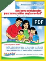 Recomendaciones nutricionales para niños y niñas según su edad - ALTIPLANO