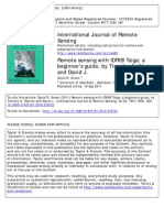 Green, David R. -- Remote Sensing With IDRISI Taiga- A Beginner's Guide , By Timothy a. Warner and