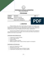 UCA Derecho Politico Programa Oficial