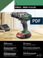 Cordless Drill PABS 18-Li B2 Ελληνικα