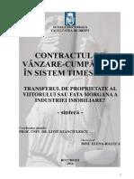 Contractul de vanzare-cumparare in sistem timeshare