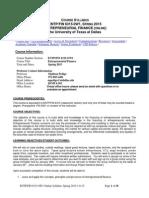 Syllabus 6315 EntrepreneurialFinance Spring 15 as of 1-6-15