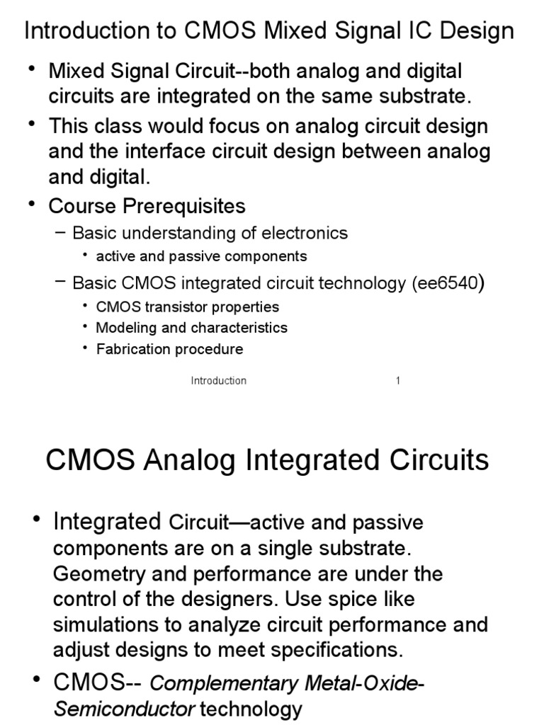Lect1 Chap1 2 Introduction Electronic Circuits Integrated Circuit Uses Of