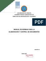 Manualdeelaboracionycontroldedocumentos Vers 3 0 Enero 2009