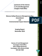 Mancos-Gallup Resource Management Plan Amendment and Environmental Impact Statement