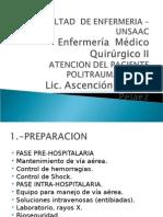 Atencion Del Paciente Politraumatizado