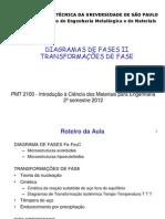 Diagramas de Fases II (Transformações)