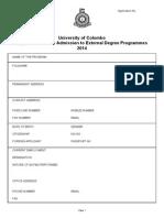 External Degree Program ApplicationForm