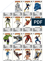 Cartas Superheroes Marvel