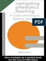 [Barbara Jaworski] Investigating Mathematics Teaching -A Constructivist Enquiry