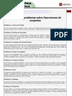 EDUTEKA - Matemática Interactiva - Ejemplos de Problemas Sobre Operaciones de Conjuntos