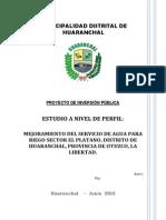 Proy. Canal El Plátano PERFIL-expo Economia